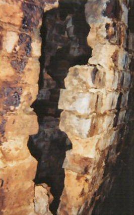 chimney bulge close-up